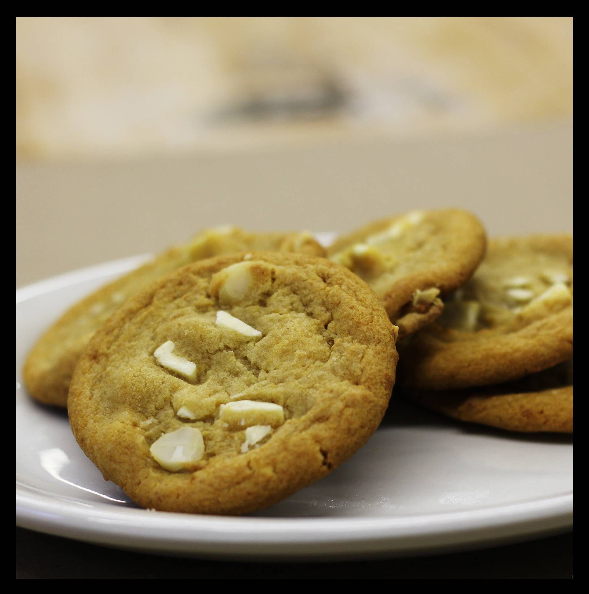 White Chocolate Madadamia Cookies