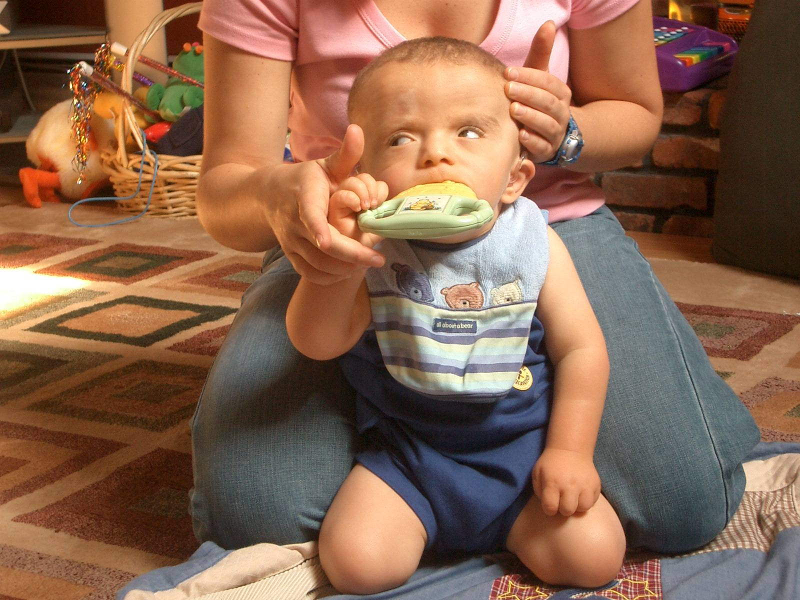 in therapy loving the vibrating teether!
