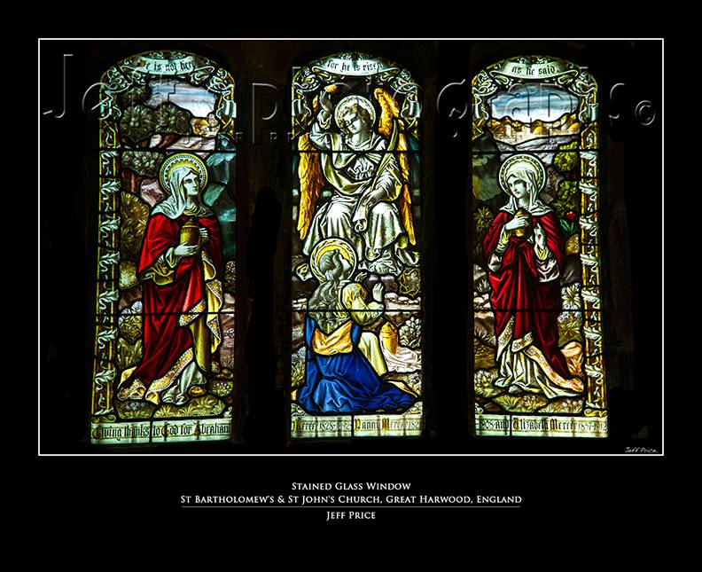 Stained Glass Window St Bartholomew's & St John's Church, Great Harwood, England