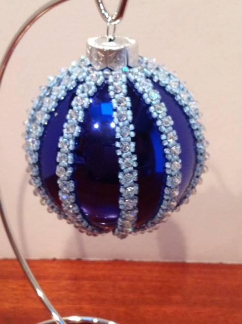 Blue Chirstmas ornament (Item #4100) $37.50