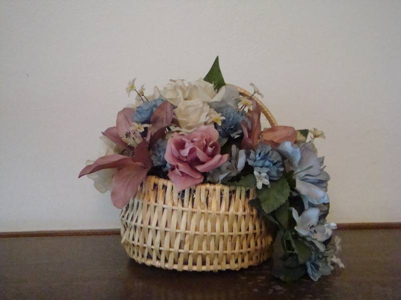 Spring Flowers in hanging basket