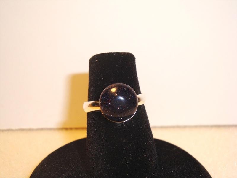 Blue Goldstone (Silver) (Item #5050) $5.00