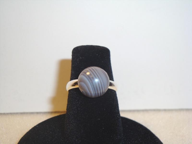 Botswana Agate (Silver) (Item #5052) $5.00