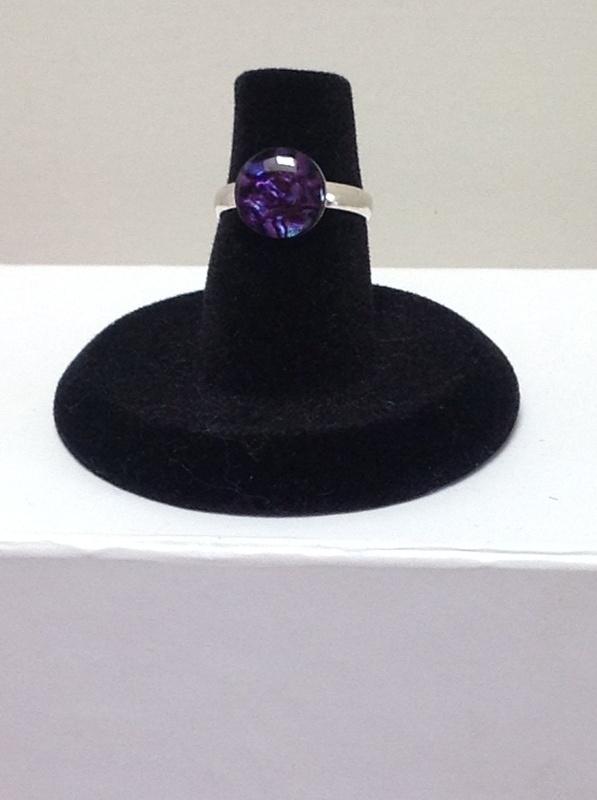 Purple Paua Shell (Silver) (Item #5078) $2.50