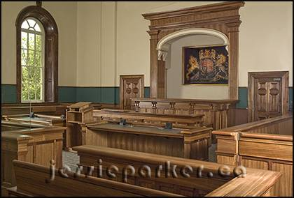 Pembroke Courthouse Courtroom