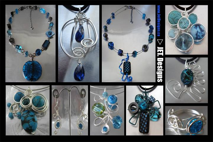 Sapphire Blue and Turquoise
