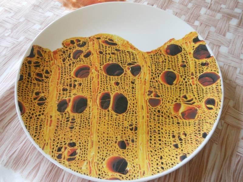 detail of dinner plate