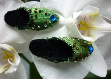 Orchid and slippers