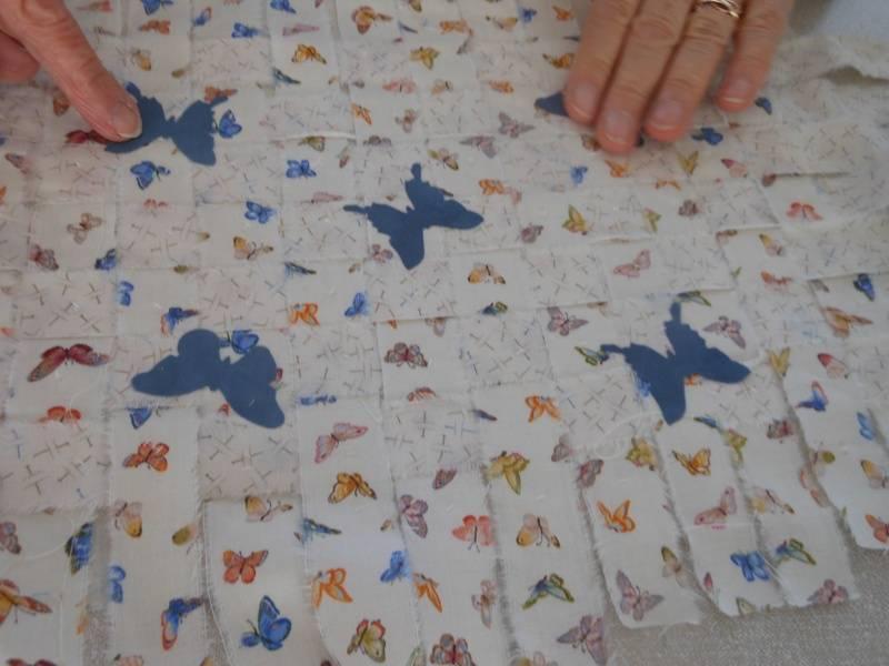 June's Butterfly woven piece