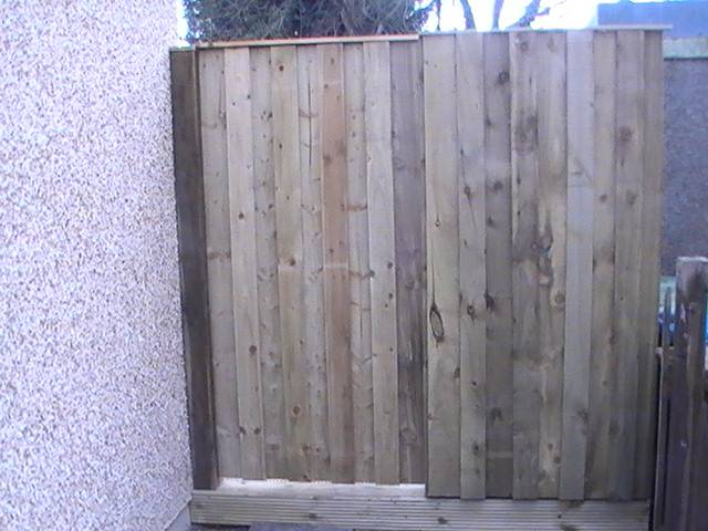 Timber Gate in fence