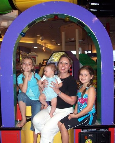Daughter Amber and her kids