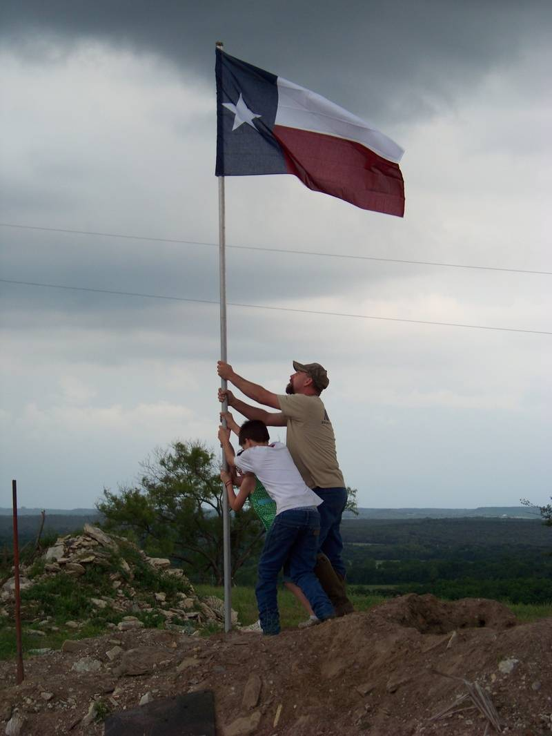 T.R. and his Dad Jake lester taking the high ground.
