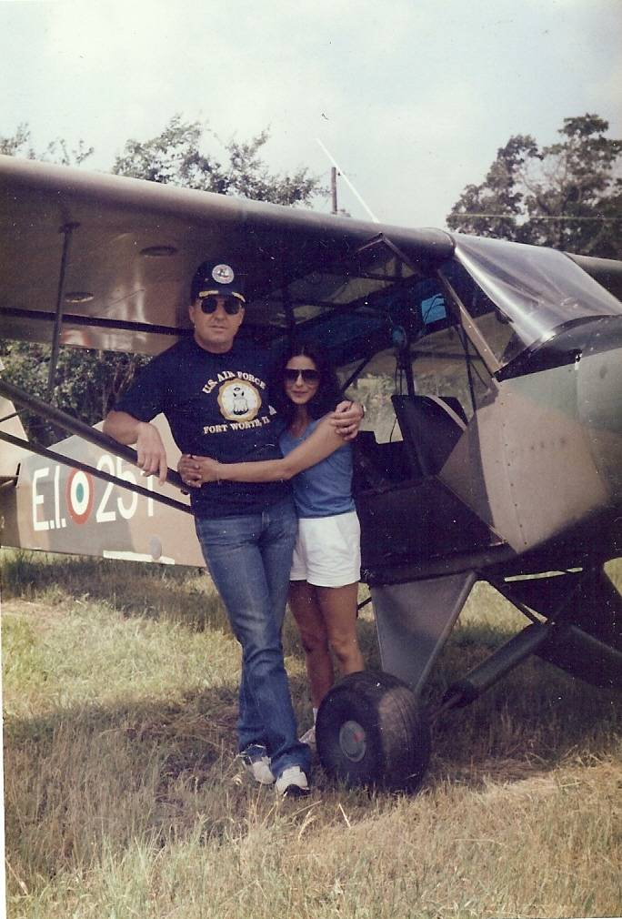 Dad and Mom doing a little flying