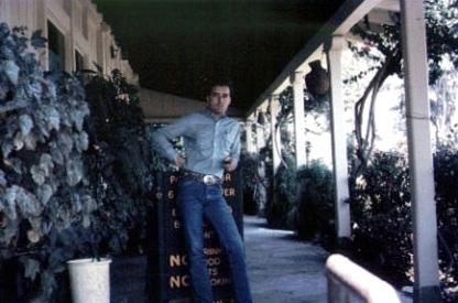 Johnny at Will Rogers home in California, 1967