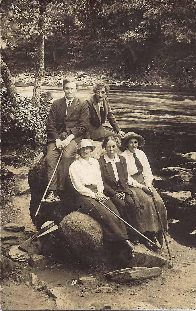 William and Rachel with friends 1914