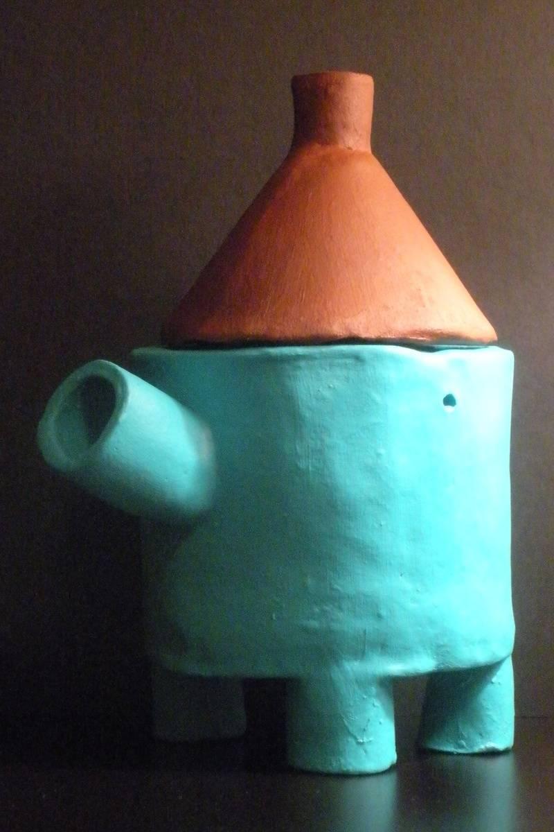 Clay Elephant Teapot
