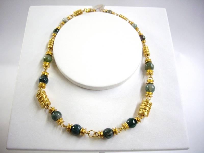 Collar de gata verde - Green agate necklace