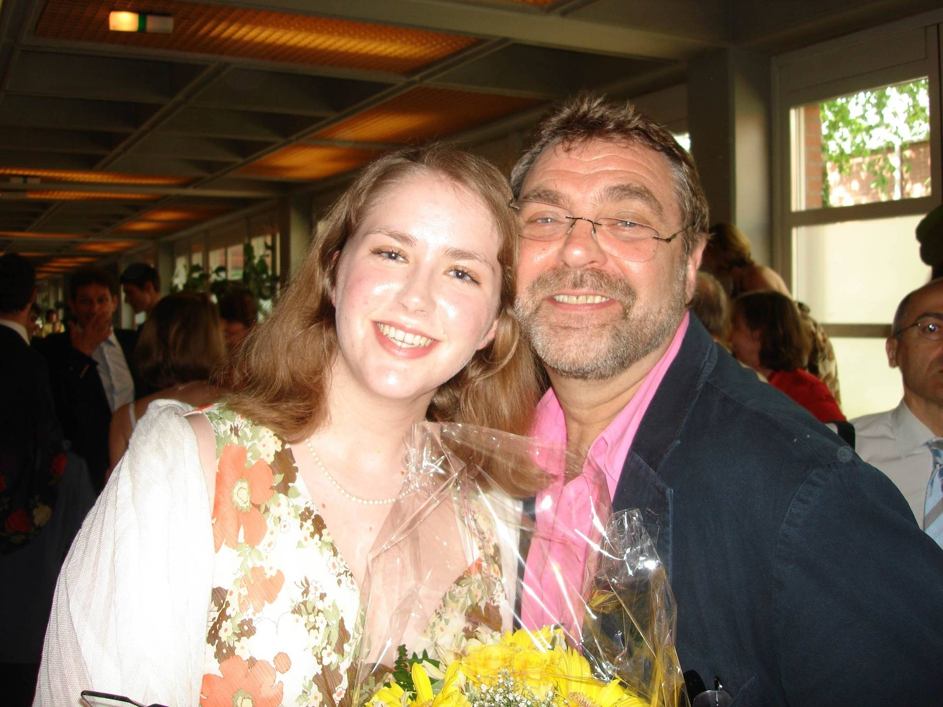 Me and Madeleine at her prize winning