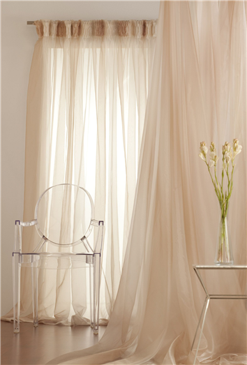 Gather Tape Sheer Curtain