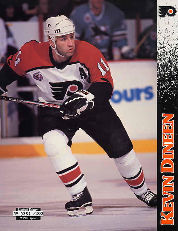 1993-94 Flyers Lineup Sheets #10