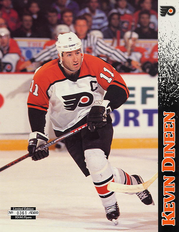 1993-94 Flyers Lineup Sheets #11