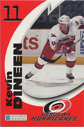 1998-99 Hurricanes Team Issue Highwood Properties #9