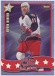 2001-02 Blue Jackets Donatos Pizza #10