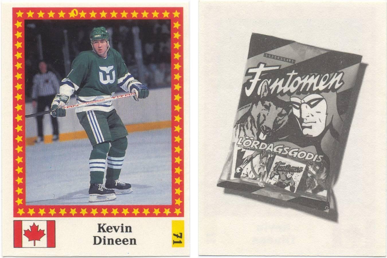 "1991-92 Semic World Championship Stickers Swedish (""Fantomen"" back) #71"