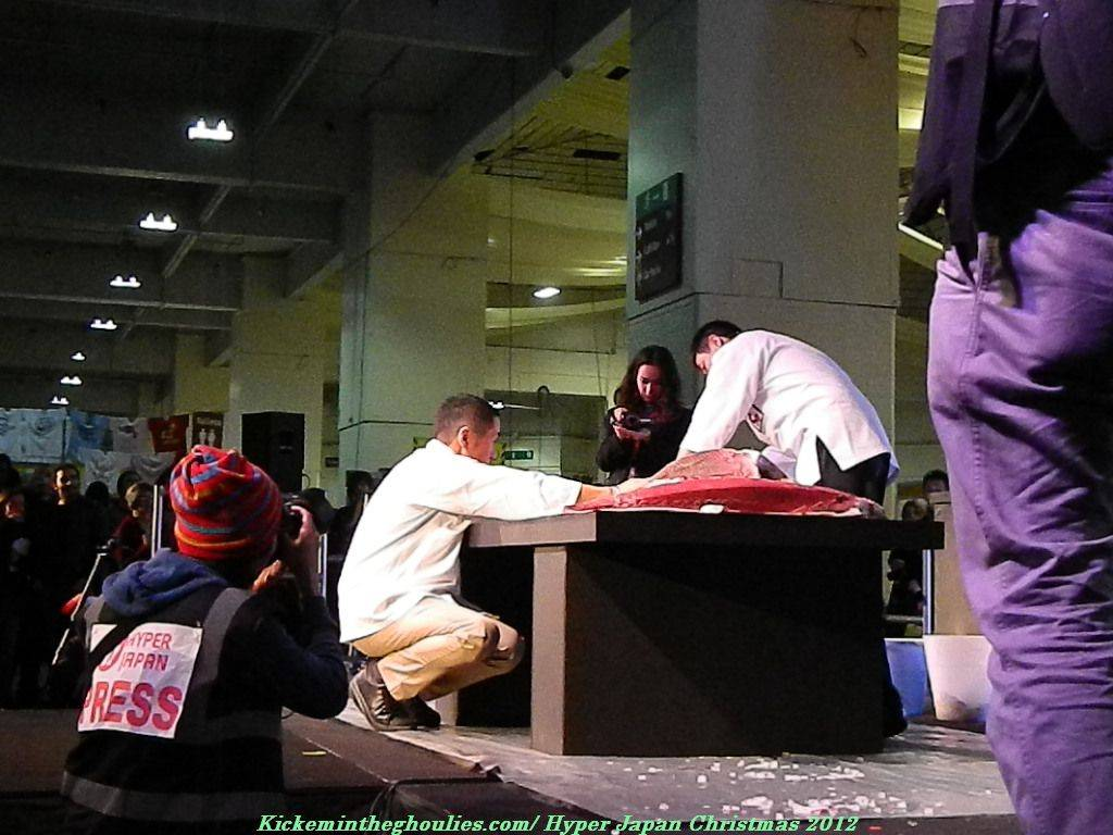 Giant Tuna Carving at Hyper Japan