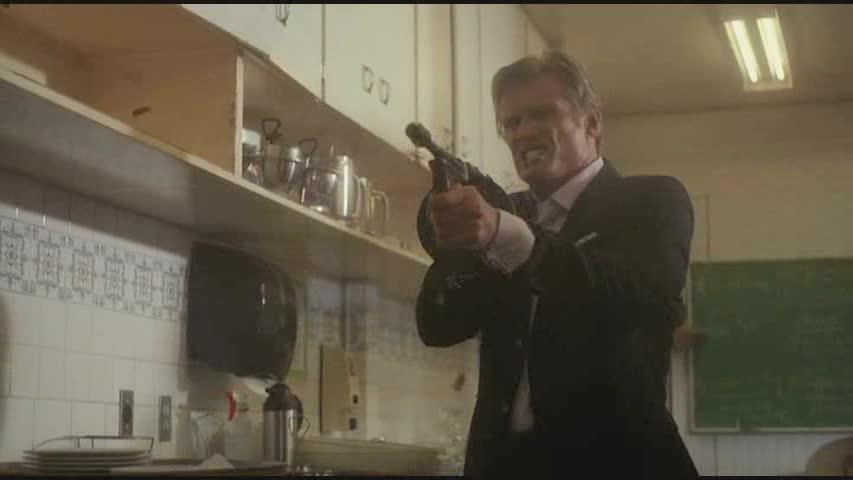 Dolph's got a gun