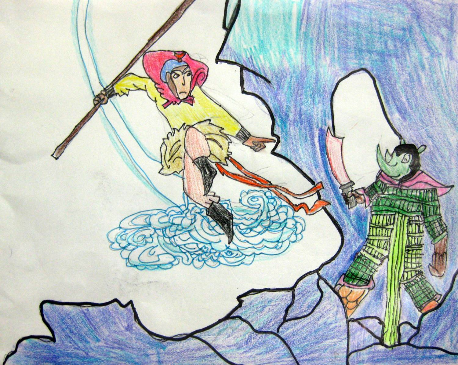 "Evelyn Dai, age 7, ""Su Wukong the Monkey King"""