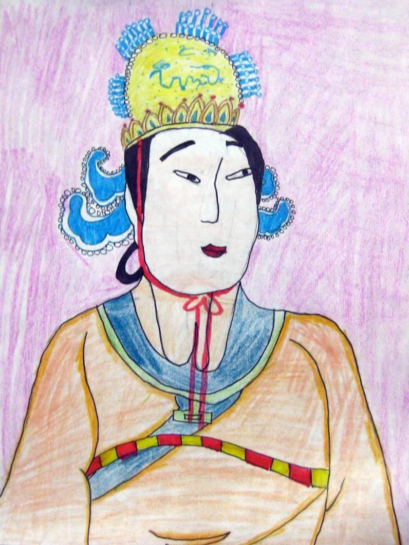 """Anita You, age 8, """"Empress Wu Zetian"""""""