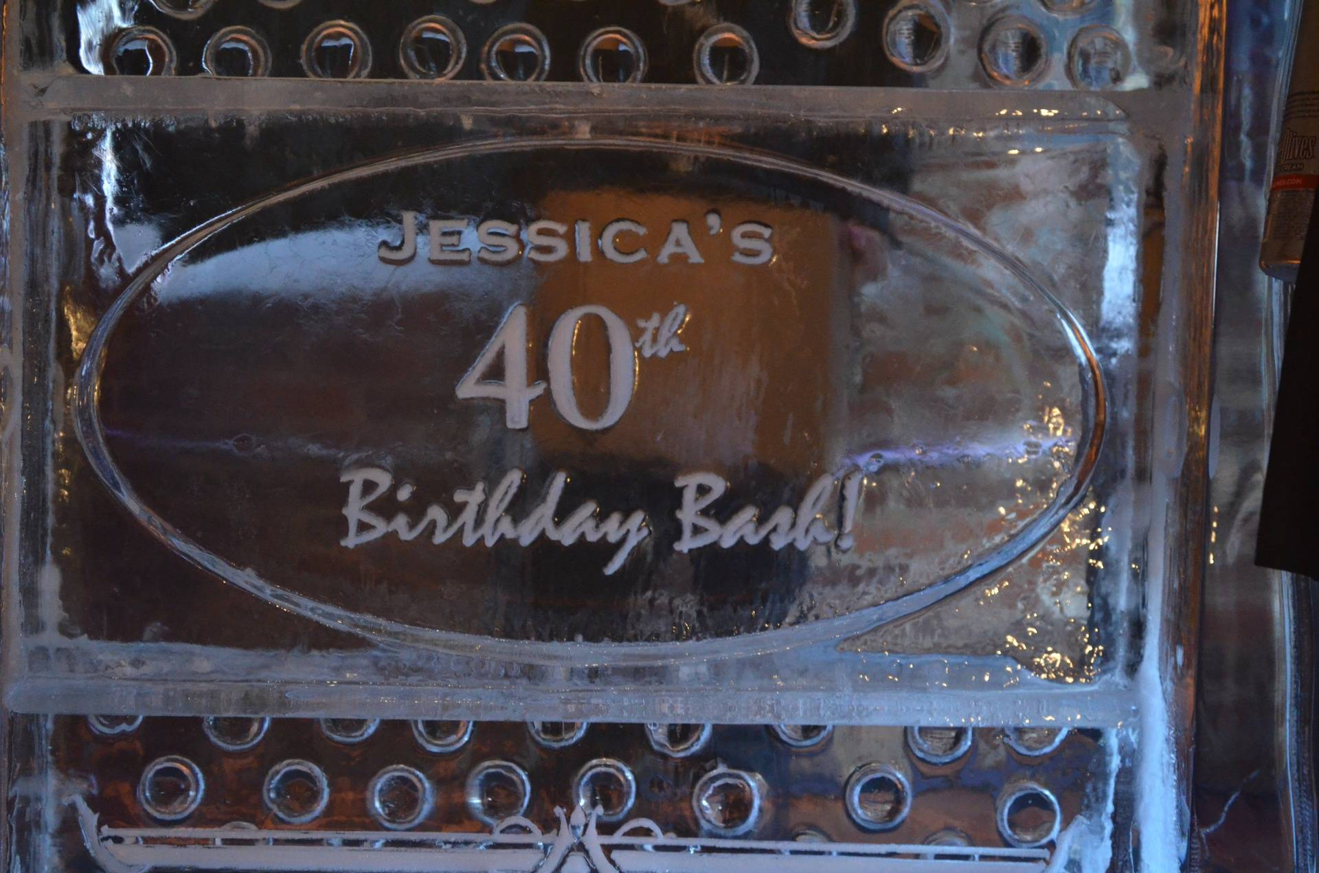 Birthday Plaque within a Bar