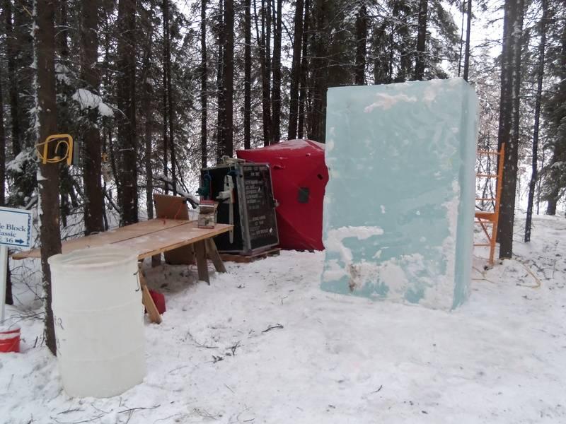 Ice Blocks in Alaska