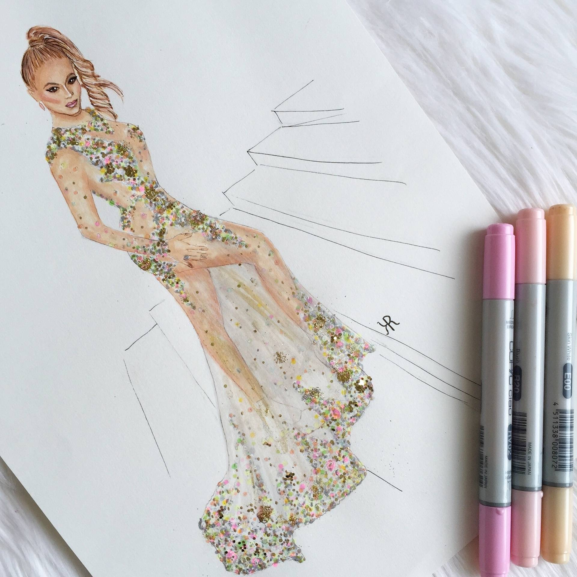 Beyonce Copic Illustration