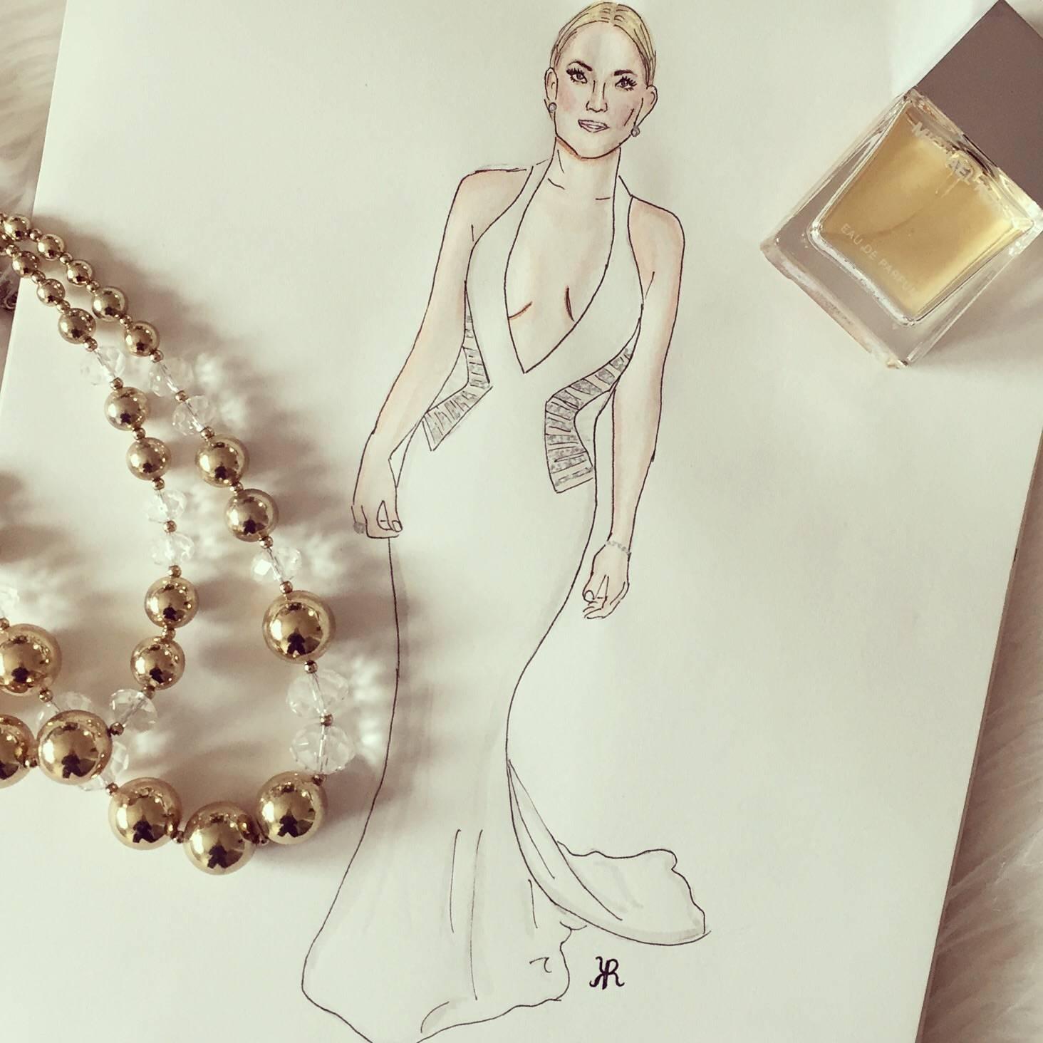 Kate Hudson Watercolor