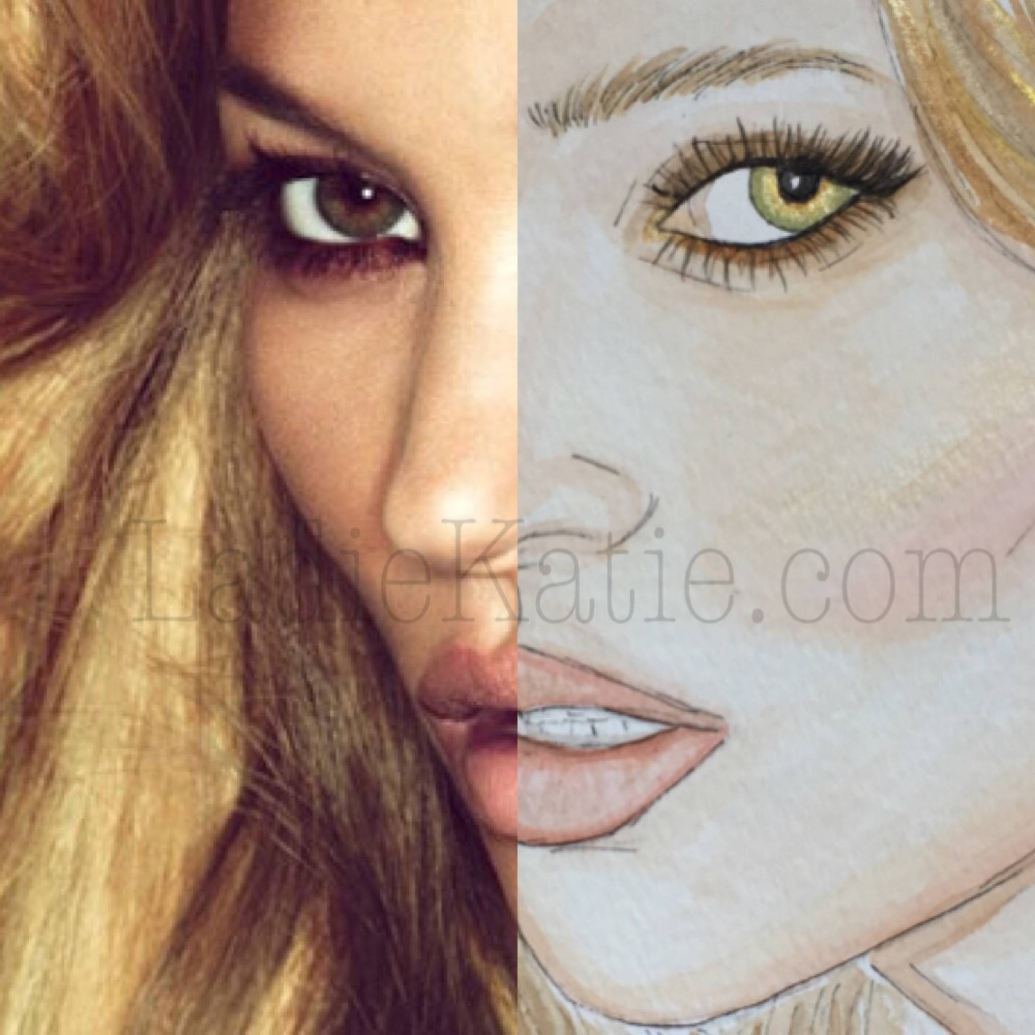 Kate Moss Watercolor and photo