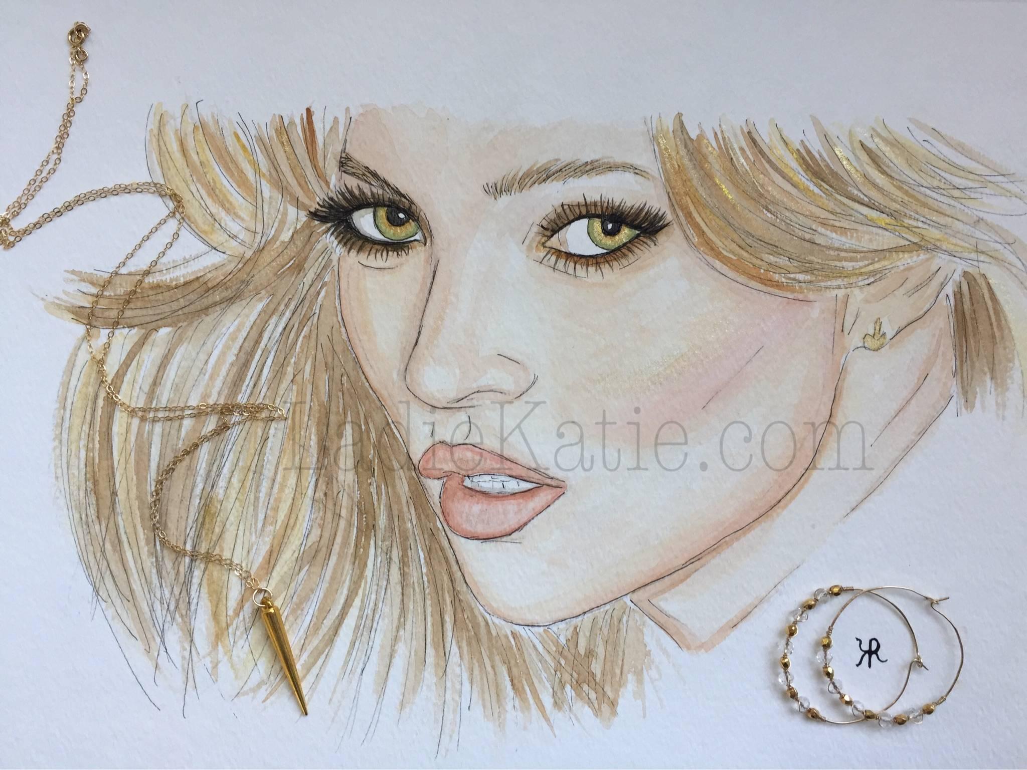 Kate Moss Watercolor