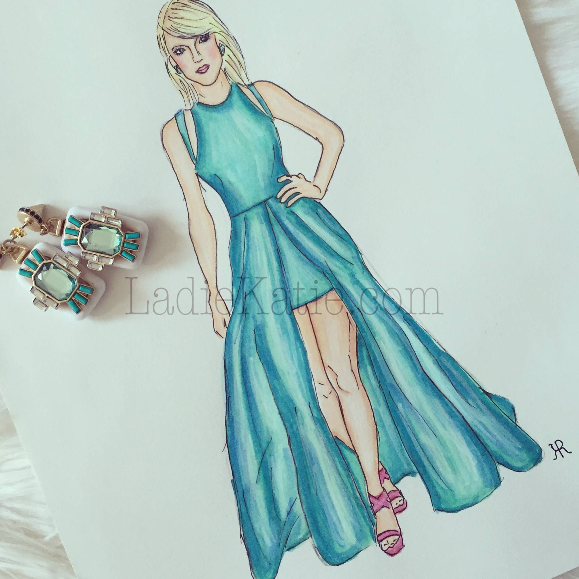 Taylor Swift Copic Illustration