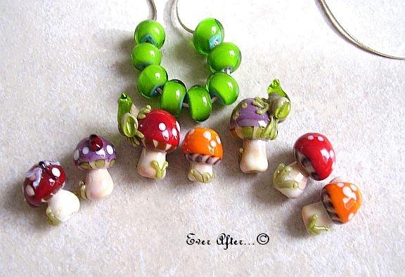 Fair garden, mushrooms