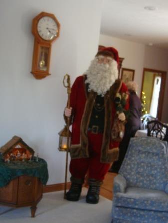 6 foot Santa greets visitors