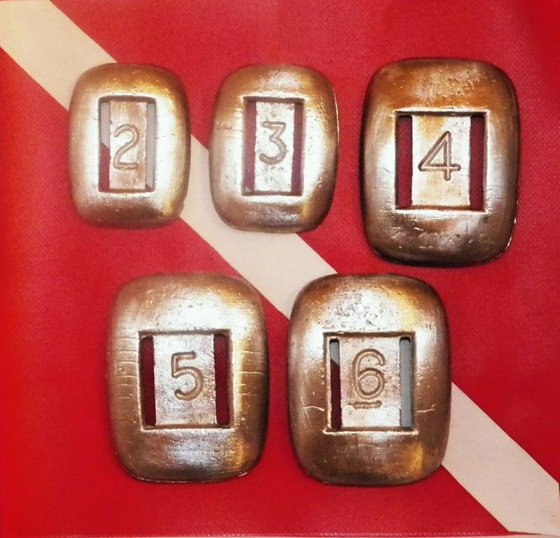 Full set of Rounded Scuba Weights