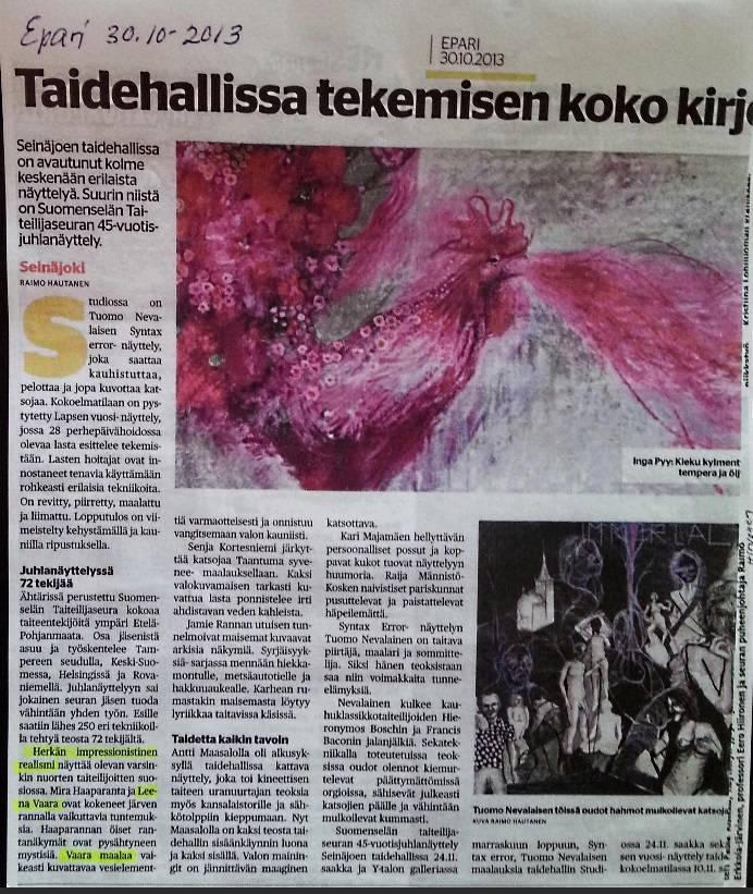 Newspaper Epari 30.10.2013