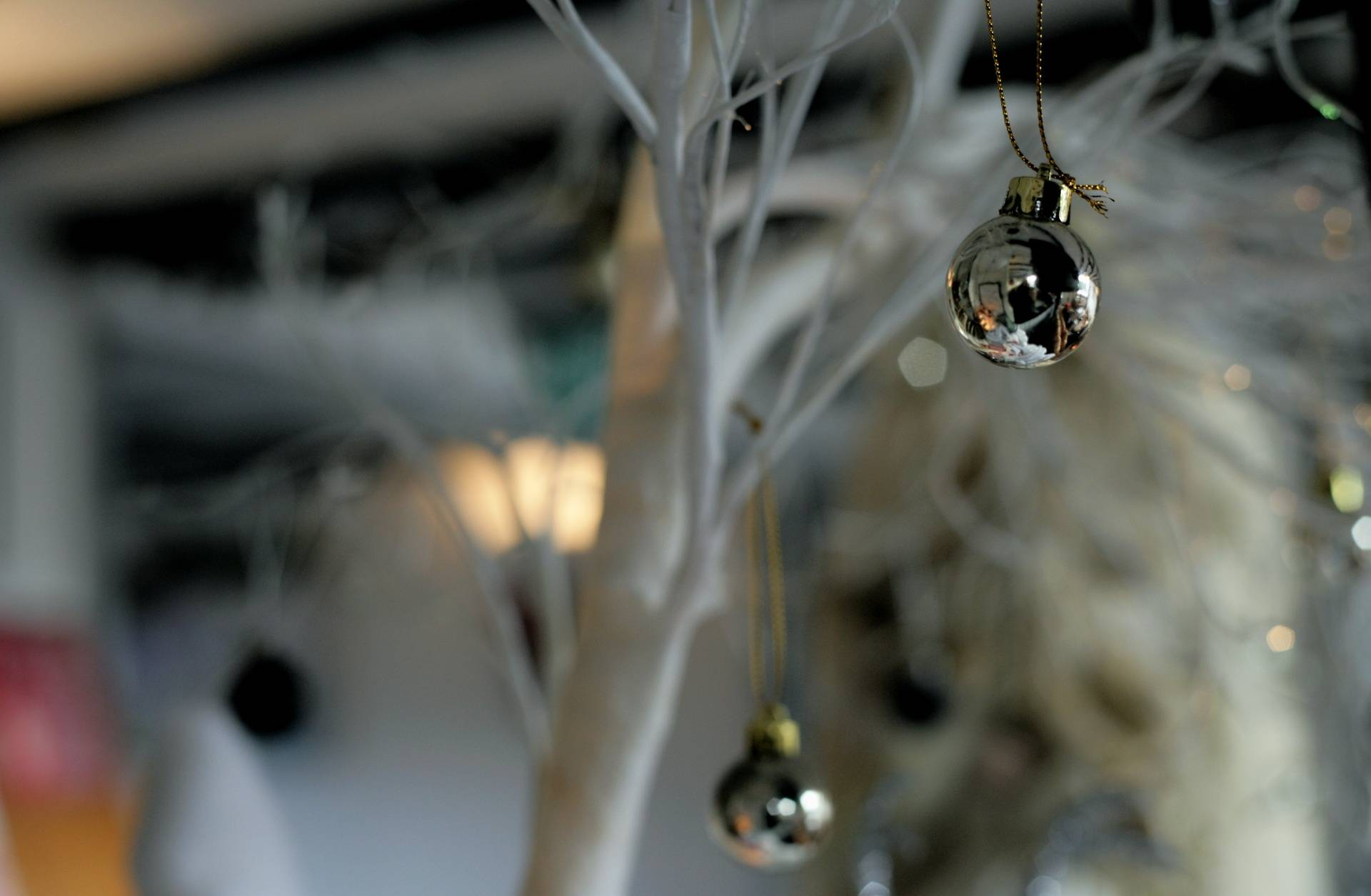 Christmas Silver Baubles Decoration