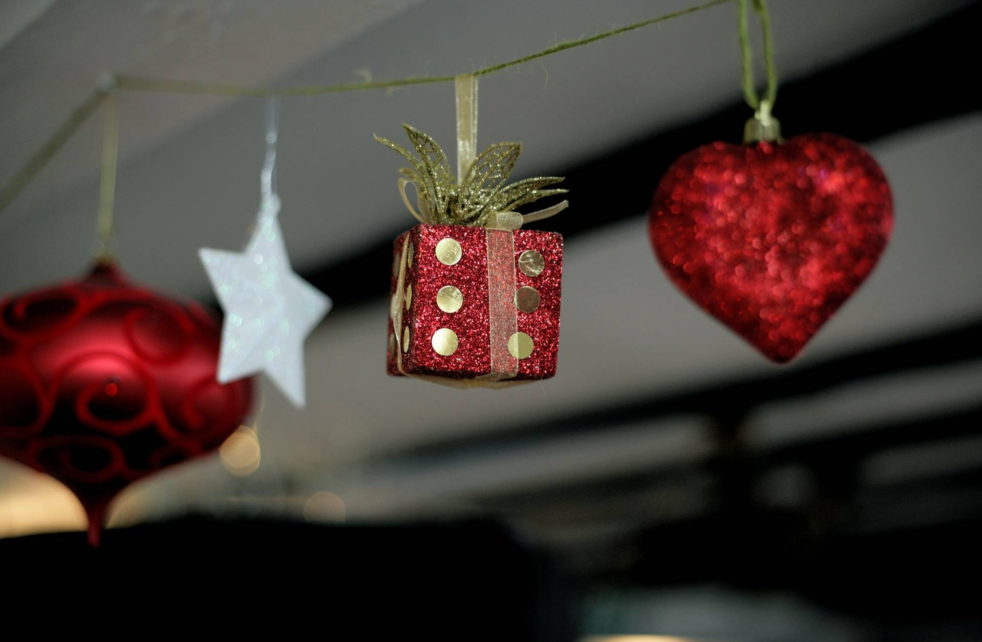 Christmas Red Dice Decoration