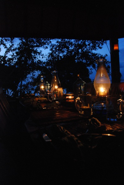 Dinner by candlelight at Serenity Beach