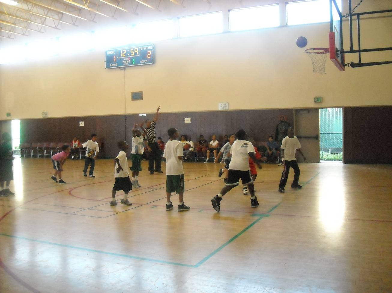Basketball at the Rainbow Rec Ctr during the feeding