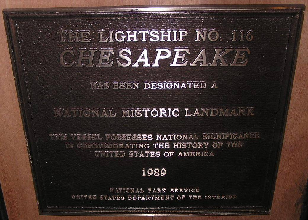 The National Historic Lankmark Plaque