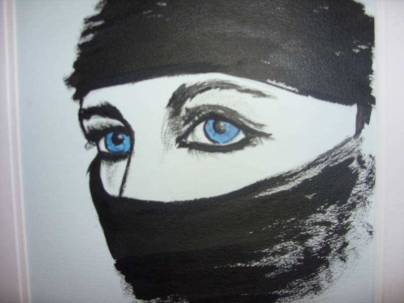 Beauty in the eyes..........ink