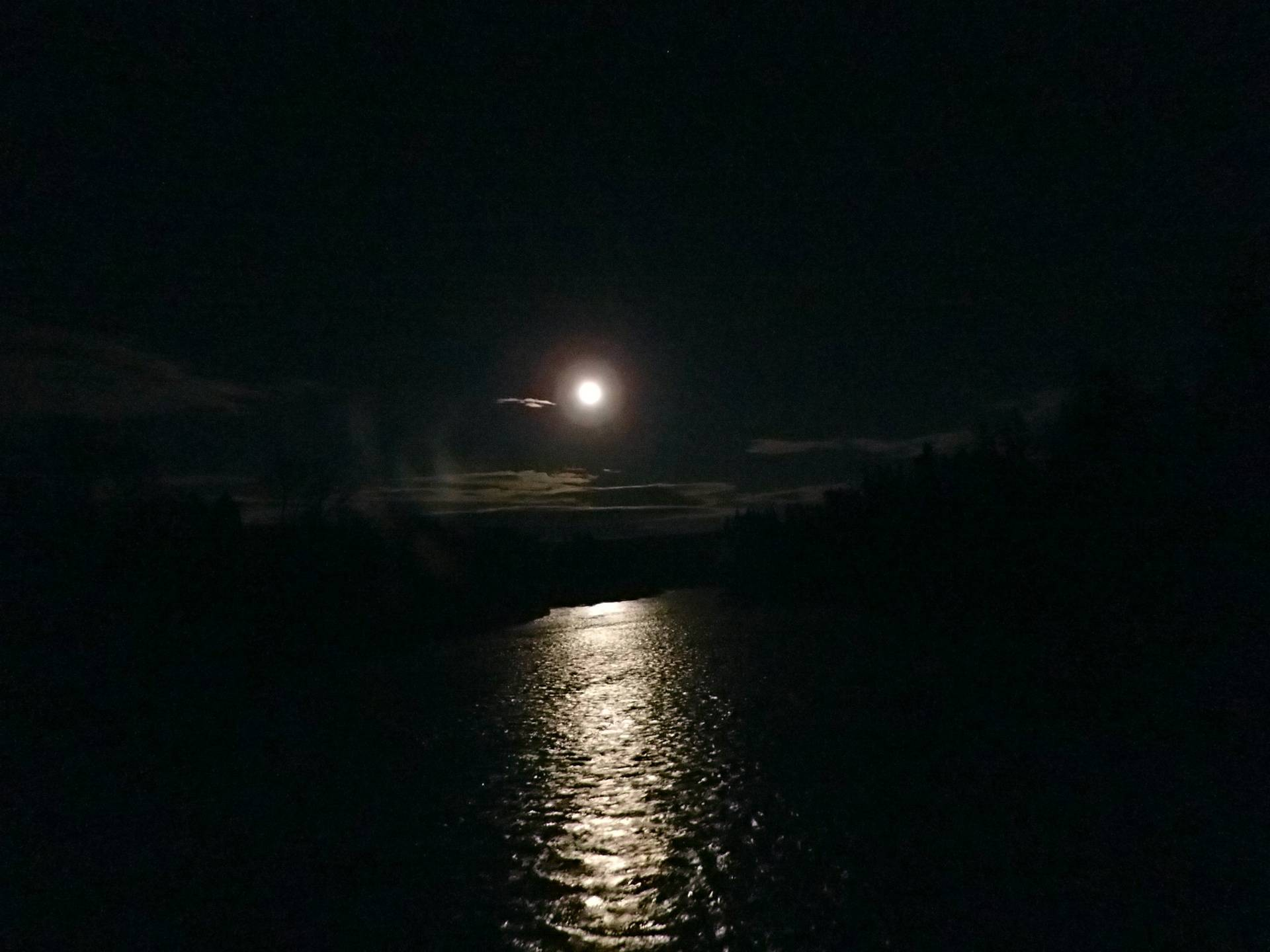 Moon rise over the Big Black river